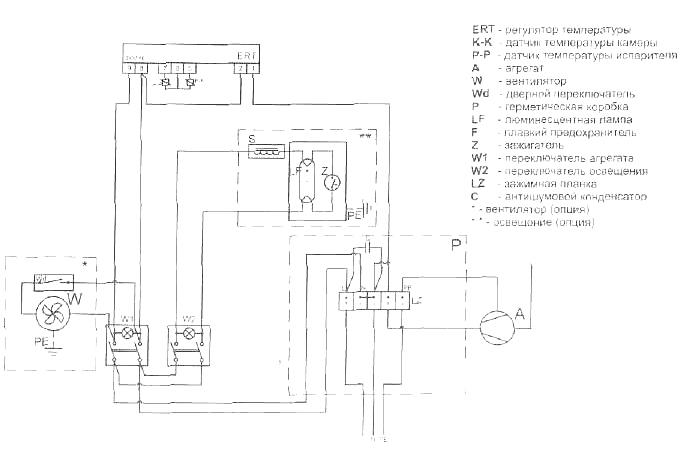 Схема холодильного шкафа Cold